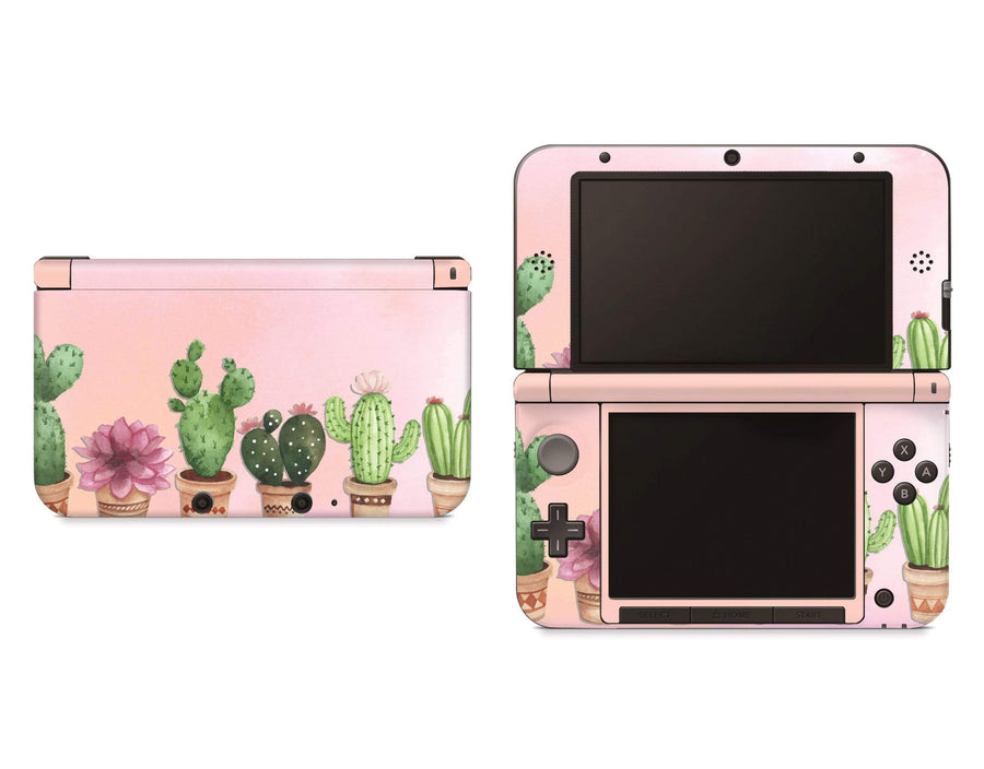 Sticky Bunny Shop Nintendo 3DS XL New 3DS XL Watercolor Cactus Nintendo 3DS XL Skin