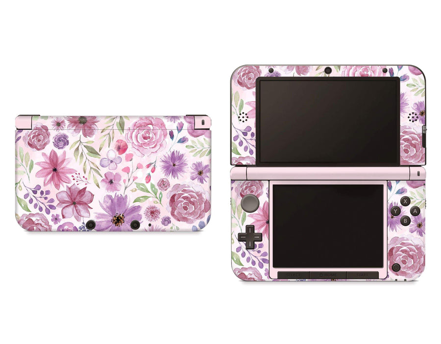Sticky Bunny Shop Nintendo 3DS XL New 3DS XL Watercolor Flowers Nintendo 3DS XL Skin