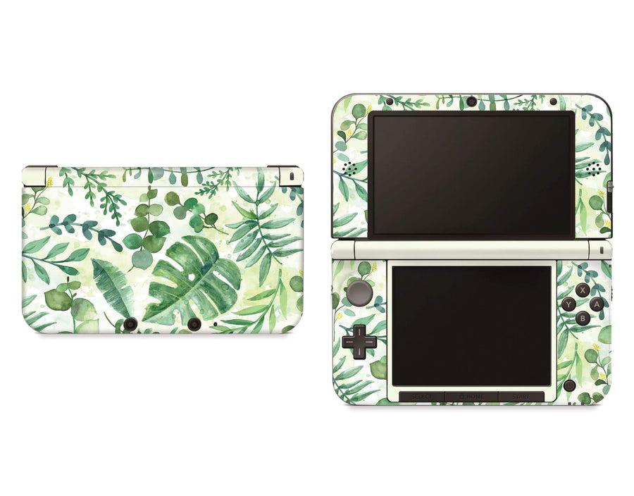 Sticky Bunny Shop Nintendo 3DS XL New 3DS XL Watercolor Leaves Nintendo 3DS XL Skin