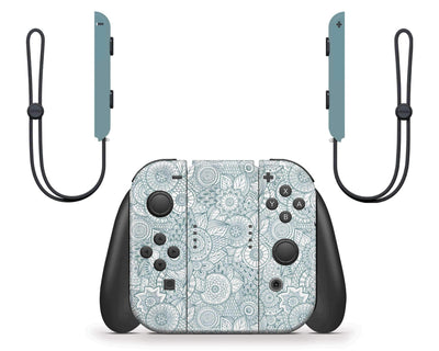 Sticky Bunny Shop Nintendo Switch Abstract Floral Nintendo Switch Skin