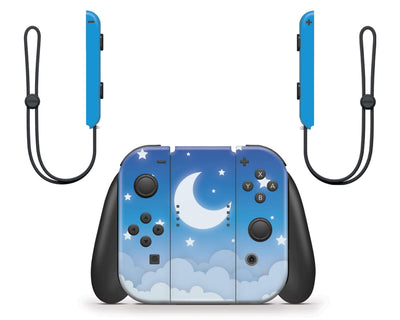 Sticky Bunny Shop Nintendo Switch Blue Lunar Sky Nintendo Switch Skin