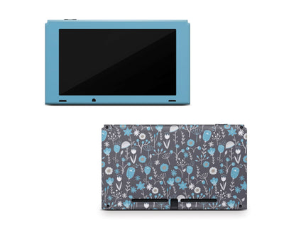 Sticky Bunny Shop Nintendo Switch Console Only Cute Blue Flowers Nintendo Switch Skin