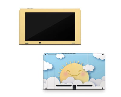 Sticky Bunny Shop Nintendo Switch Console Only Cute Sun In The Clouds Nintendo Switch Skin