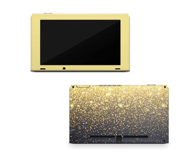 Sticky Bunny Shop Nintendo Switch Console Only Gold Simple Dots Printed Nintendo Switch Skin