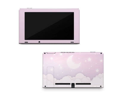 Sticky Bunny Shop Nintendo Switch Console Only Lavender Lunar Sky Nintendo Switch Skin