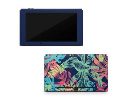 Sticky Bunny Shop Nintendo Switch Console Only Neon Tropical Leaves Nintendo Switch Skin