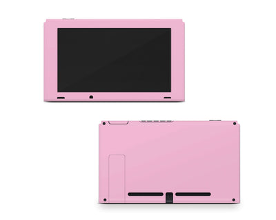 Sticky Bunny Shop Nintendo Switch Console Only / Pastel Pink Cute Solid Pastel Nintendo Switch Skin | Choose Your Color