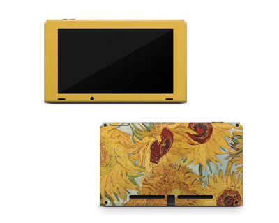 Sticky Bunny Shop Nintendo Switch Console Only Twelve Sunflowers By Van Gogh Nintendo Switch Skin