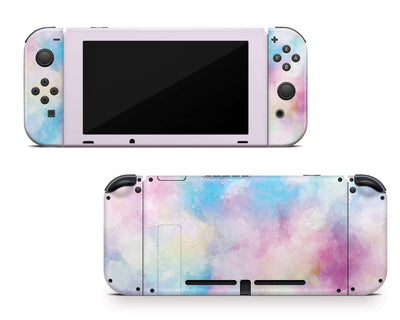 Sticky Bunny Shop Nintendo Switch Cotton Candy Watercolor Nintendo Switch Skin