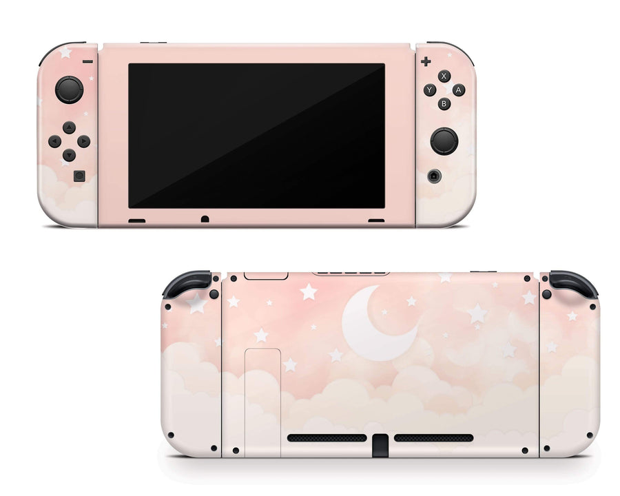 Sticky Bunny Shop Nintendo Switch Creme Lunar Sky Nintendo Switch Skin