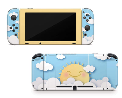 Sticky Bunny Shop Nintendo Switch Cute Sun In The Clouds Nintendo Switch Skin