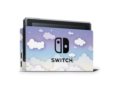 Sticky Bunny Shop Nintendo Switch Dock Only Clouds In The Sky Nintendo Switch Skin