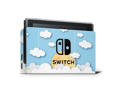 Sticky Bunny Shop Nintendo Switch Dock Only Cute Sun In The Clouds Nintendo Switch Skin