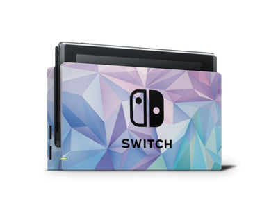 Sticky Bunny Shop Nintendo Switch Dock Only Geometric Pastel Nintendo Switch Skin