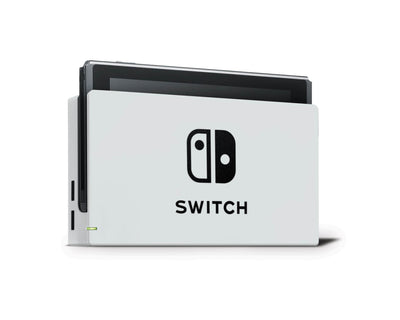 Sticky Bunny Shop Nintendo Switch Dock Only / Light Gray Cute Solid Pastel Nintendo Switch Skin | Choose Your Color