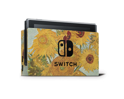 Sticky Bunny Shop Nintendo Switch Dock Only Twelve Sunflowers By Van Gogh Nintendo Switch Skin