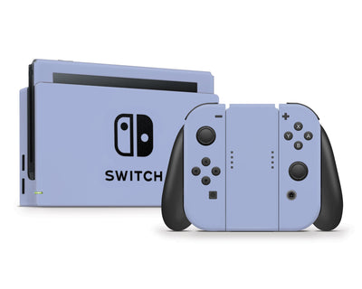 Sticky Bunny Shop Nintendo Switch Full Set / Ash Blue Cute Solid Pastel Nintendo Switch Skin | Choose Your Color