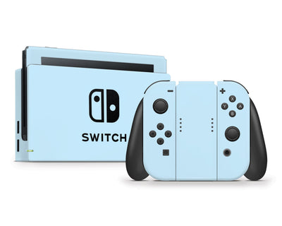Sticky Bunny Shop Nintendo Switch Full Set / Baby Blue Cute Solid Pastel Nintendo Switch Skin | Choose Your Color