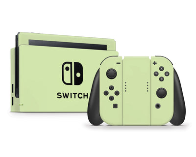 Sticky Bunny Shop Nintendo Switch Full Set / Baby Green Cute Solid Pastel Nintendo Switch Skin | Choose Your Color