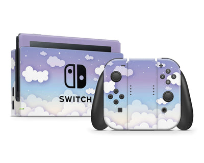 Sticky Bunny Shop Nintendo Switch Full Set Clouds In The Sky Nintendo Switch Skin