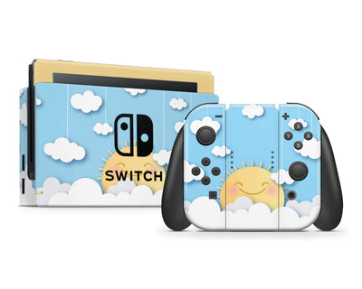 Sticky Bunny Shop Nintendo Switch Full Set Cute Sun In The Clouds Nintendo Switch Skin