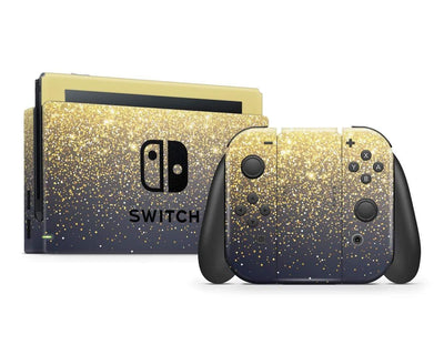 Sticky Bunny Shop Nintendo Switch Full Set Gold Simple Dots Printed Nintendo Switch Skin