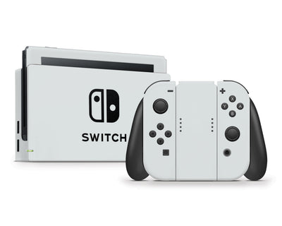 Sticky Bunny Shop Nintendo Switch Full Set / Light Gray Cute Solid Pastel Nintendo Switch Skin | Choose Your Color