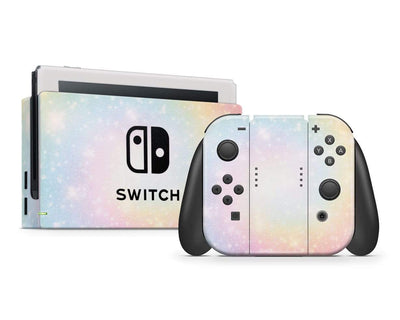 Sticky Bunny Shop Nintendo Switch Full Set Pastel Swirl Nintendo Switch Skin