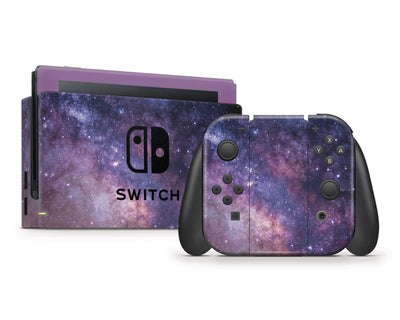 Sticky Bunny Shop Nintendo Switch Full Set Purple Galaxy Nintendo Switch Skin