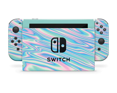 Sticky Bunny Shop Nintendo Switch Full Set Wavy Pastel Nintendo Switch Skin
