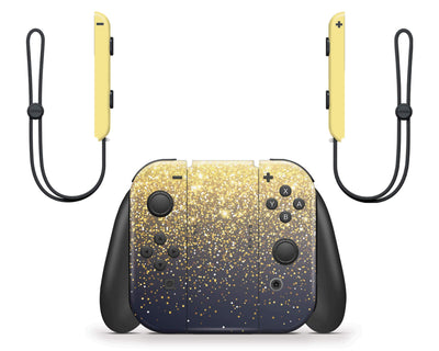 Sticky Bunny Shop Nintendo Switch Gold Simple Dots Printed Nintendo Switch Skin