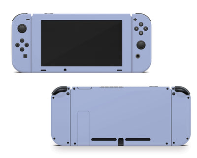 Sticky Bunny Shop Nintendo Switch Joy-Cons + Console / Ash Blue Cute Solid Pastel Nintendo Switch Skin | Choose Your Color