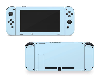 Sticky Bunny Shop Nintendo Switch Joy-Cons + Console / Baby Blue Cute Solid Pastel Nintendo Switch Skin | Choose Your Color