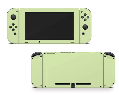 Sticky Bunny Shop Nintendo Switch Joy-Cons + Console / Baby Green Cute Solid Pastel Nintendo Switch Skin | Choose Your Color