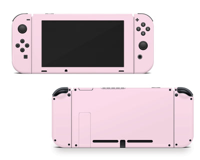 Sticky Bunny Shop Nintendo Switch Joy-Cons + Console / Baby Pink Cute Solid Pastel Nintendo Switch Skin | Choose Your Color