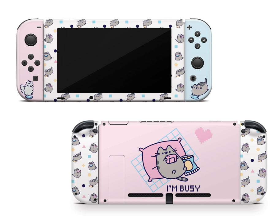 Sticky Bunny Shop Nintendo Switch Full Set Gaming Pusheen Nintendo Switch Skin