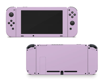 Sticky Bunny Shop Nintendo Switch Joy-Cons + Console / Lavender Cute Solid Pastel Nintendo Switch Skin | Choose Your Color
