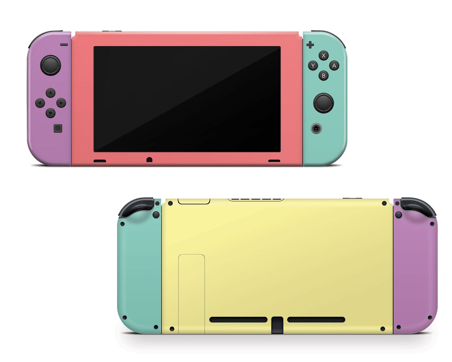 Sticky Bunny Shop Nintendo Switch Full Set Retro Pastel 1983 Nintendo Switch Skin