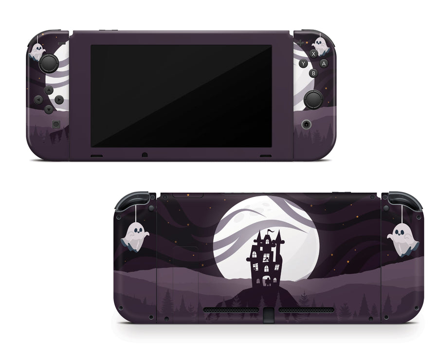 Sticky Bunny Shop Nintendo Switch Full Set Spooky Ghosts Moon Edition Nintendo Switch Skin