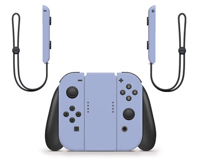 Sticky Bunny Shop Nintendo Switch Joy-Cons Only / Ash Blue Cute Solid Pastel Nintendo Switch Skin | Choose Your Color