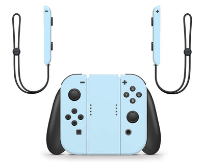 Sticky Bunny Shop Nintendo Switch Joy-Cons Only / Baby Blue Cute Solid Pastel Nintendo Switch Skin | Choose Your Color
