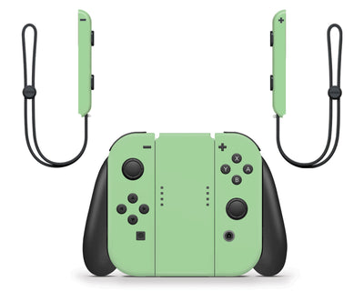 Sticky Bunny Shop Nintendo Switch Joy-Cons Only / Pastel Green Cute Solid Pastel Nintendo Switch Skin | Choose Your Color