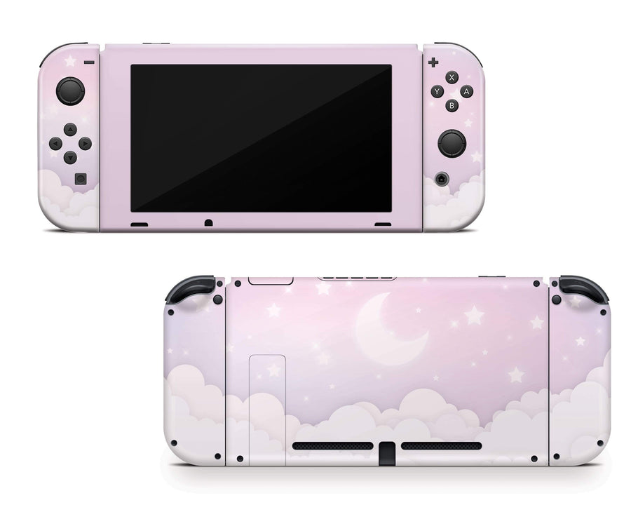 Sticky Bunny Shop Nintendo Switch Lavender Lunar Sky Nintendo Switch Skin