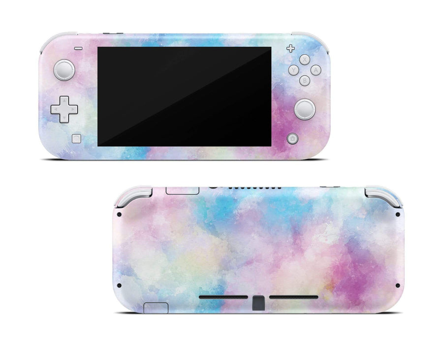 ZOOMHITSKINS Switch Lite Skin Vinyl Stickers High Quality Bubble-free Made in Canada 1 Skin Durable Soft Color Winter Nature Art Purple Navy Gloss Pink White Snow Mountains Goo-free