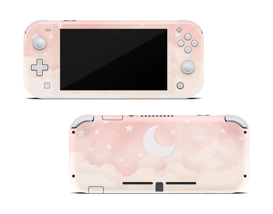 Sticky Bunny Shop Nintendo Switch Lite Creme Lunar Sky Nintendo Switch Lite Skin