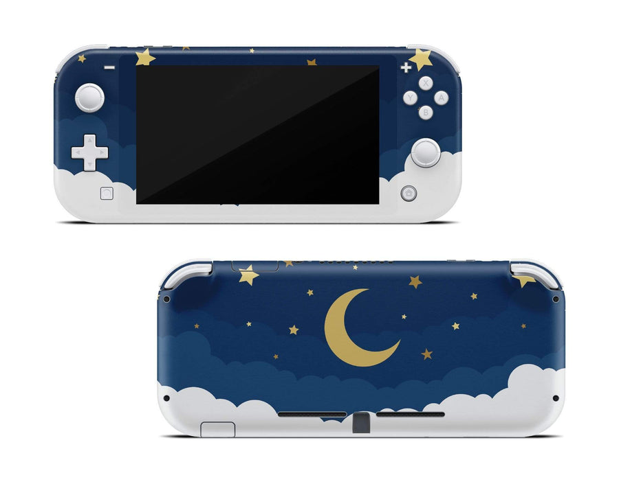 Sticky Bunny Shop Nintendo Switch Lite Dark Lunar Sky Nintendo Switch Lite Skin