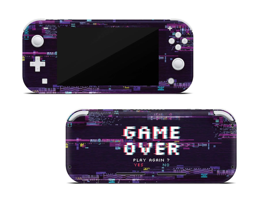 Sticky Bunny Shop Nintendo Switch Lite Game Over Glitch Nintendo Switch Lite Skin