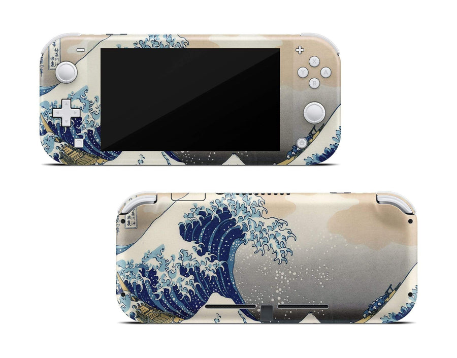 Sticky Bunny Shop Nintendo Switch Lite Great Wave Off Kanagawa By Hokusai Nintendo Switch Lite Skin