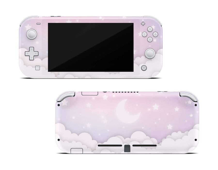 Sticky Bunny Shop Nintendo Switch Lite Lavender Lunar Sky Nintendo Switch Lite Skin