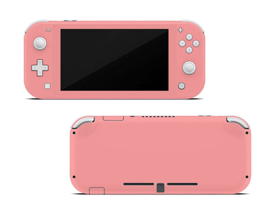 Sticky Bunny Shop Nintendo Switch Lite Light Coral Cute Solid Pastel Nintendo Switch Lite Skin | Choose Your Color